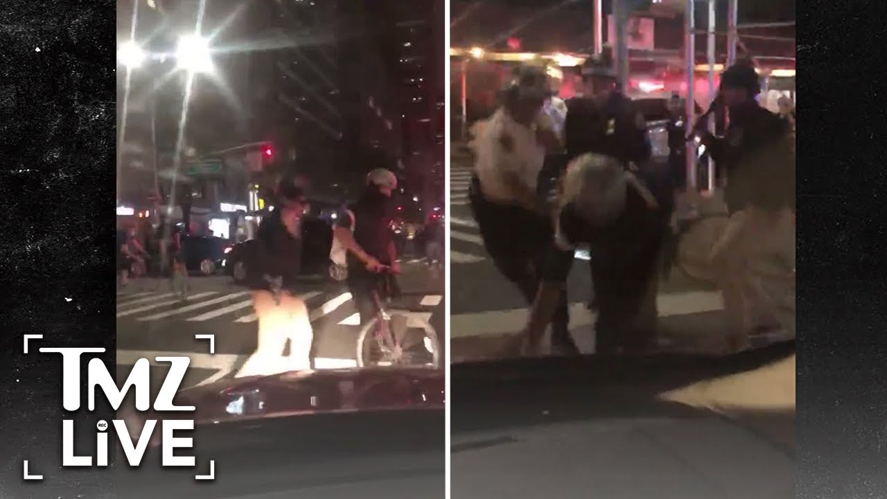 NYPD Cops Violently Strike Man with Batons After Curfew | TMZ Live