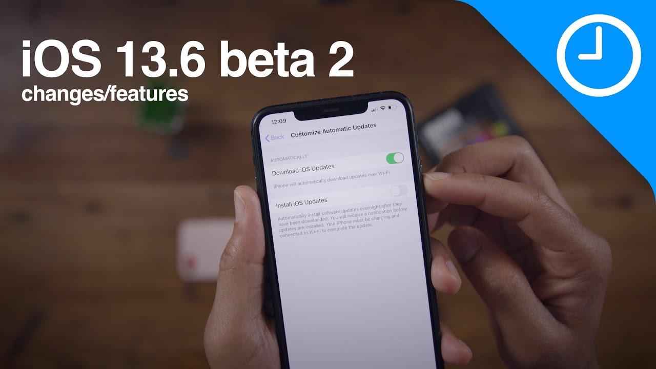 What's new in iOS 13.6 beta 2? (Customize Automatic updates, new Health app Symptom logging)