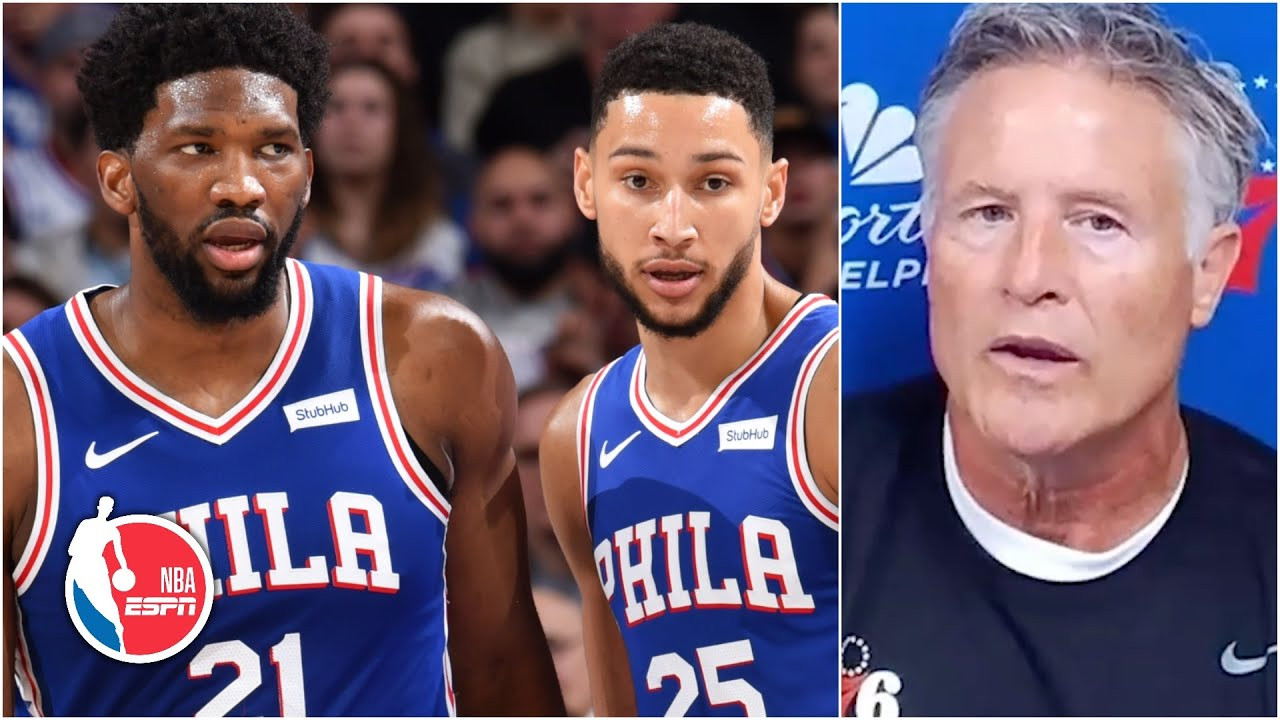 76ers coach Brett Brown talks Ben Simmons' jumper, improved chemistry with Joel Embiid | NBA on ESPN