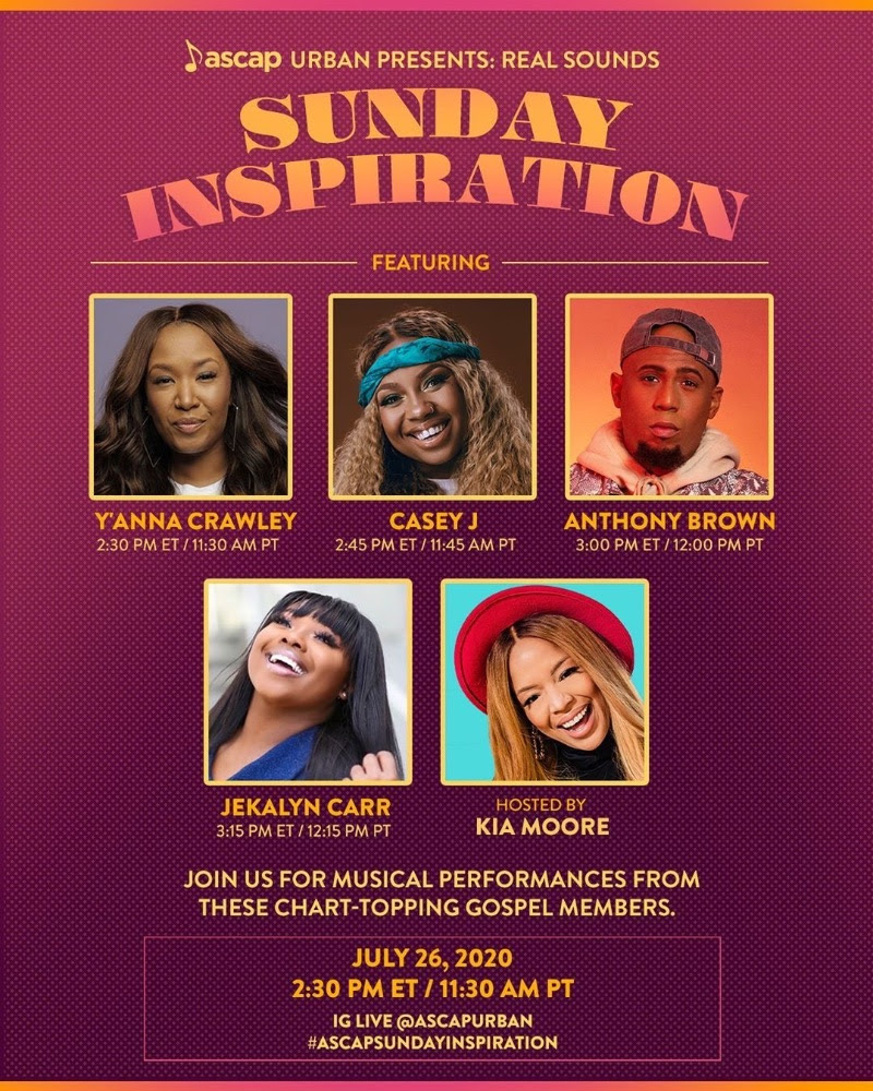 ASCAP RHYTHM & SOUL PRESENTS 'SUNDAY INSPIRATION'