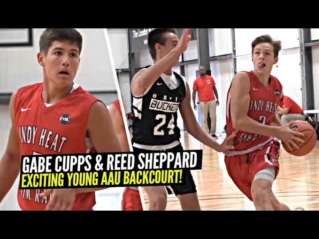 Gabe Cupps & His NEW AAU Teammate Reed Sheppard Are an EXCITING Young Duo!! Buckets & Bounce!!