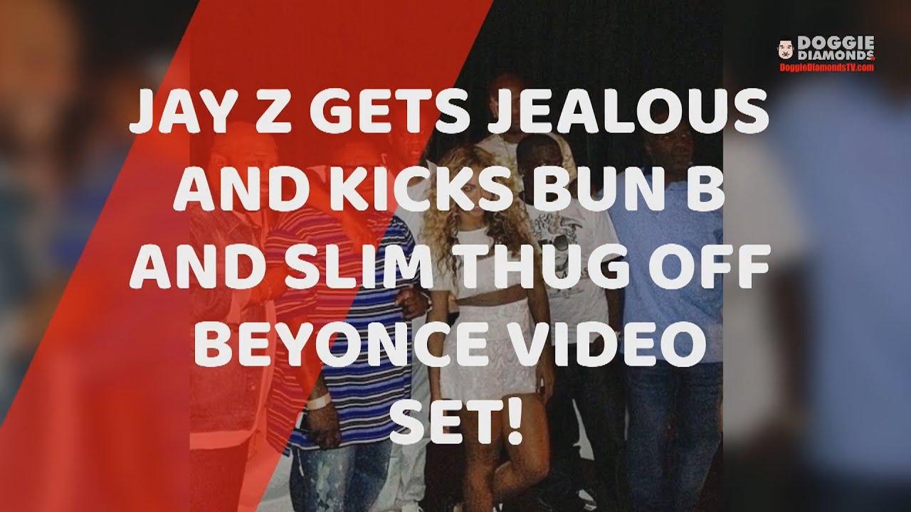 Jay Z Gets Jealous And Kicks Bun B And Slim Thug Off Beyonce Video Set!