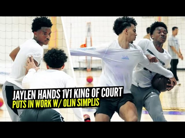 Jaylen Hands 1v1 King of The Court w/ Former UCLA Teammate Jules Bernard! + EXCLUSIVE Workout!