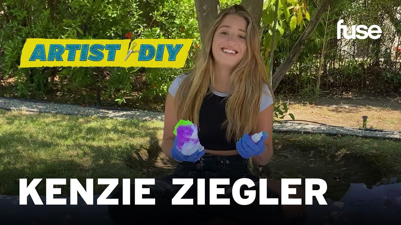 Kenzie Ziegler Creates Her Very Own Glow In The Dark Tie Dye Clothes | Artist DIY | Fuse