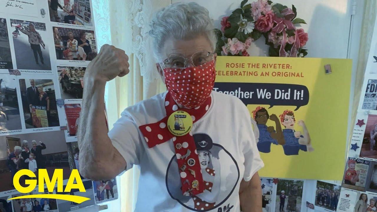 Pennsylvania's original 'Rosie the Riveter' making masks l GMA