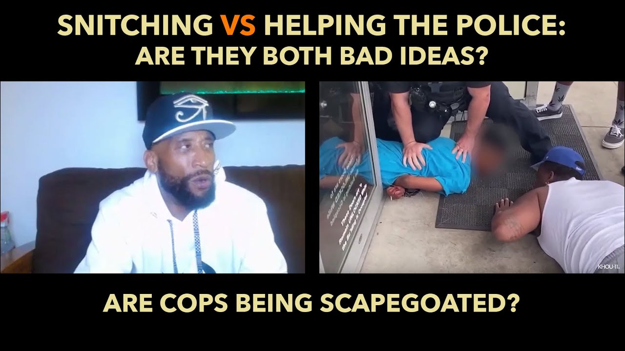 Snitching vs Helping The Police: Are they both bad ideas?