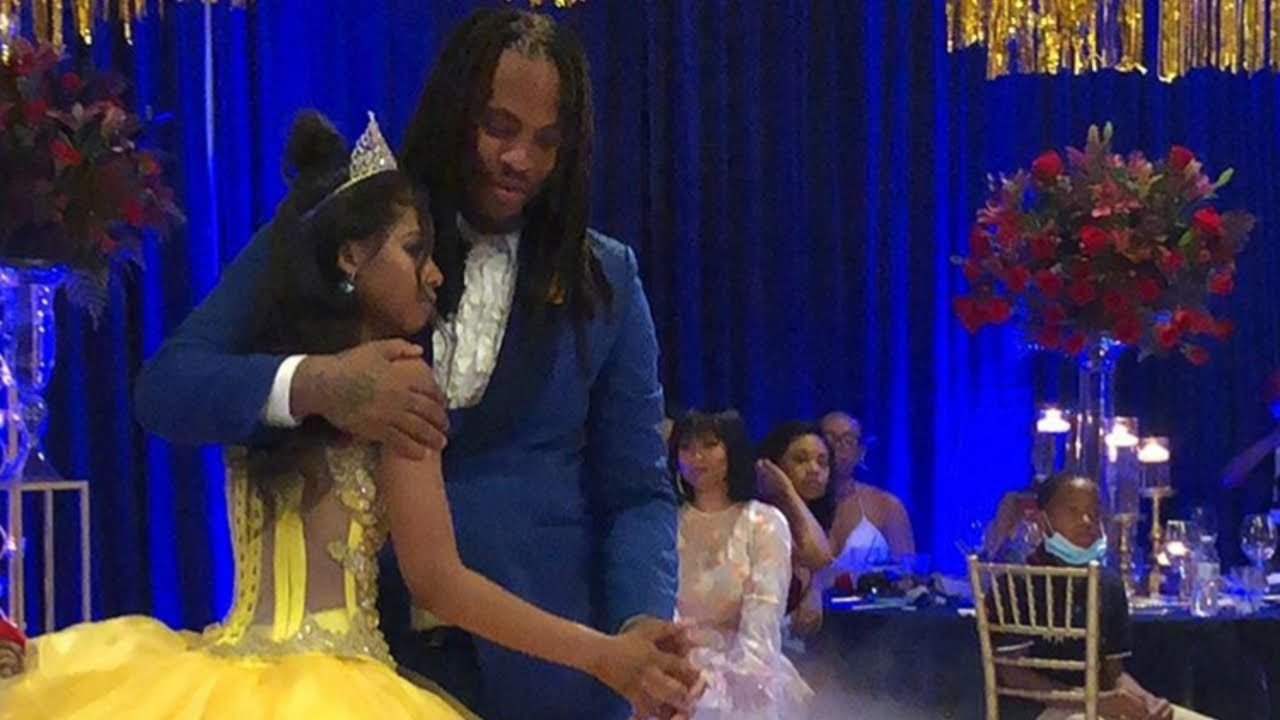 Waka Flocka & Step Daughter Share Emotional Father-Daughter Dance at Beauty & the Beast Quinceanera