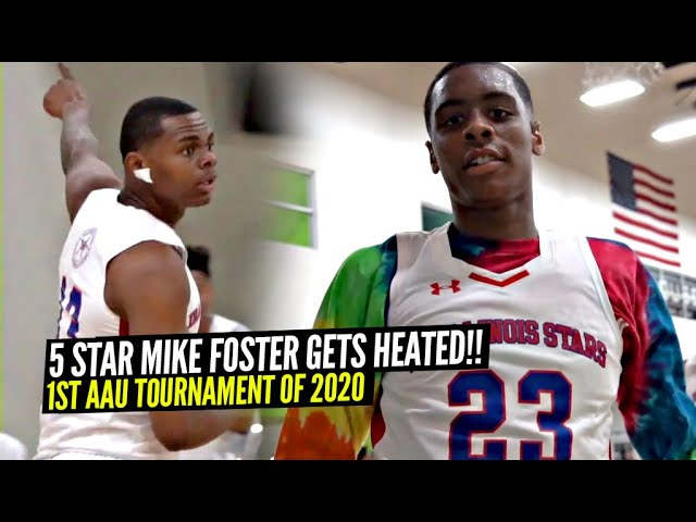 5 Star Mike Foster Gets HEATED In His 1st AAU Game of 2020!!