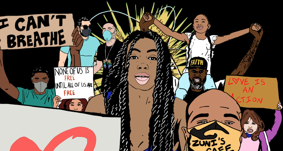 Brittany Campbell's Powerful BLM Protest Video