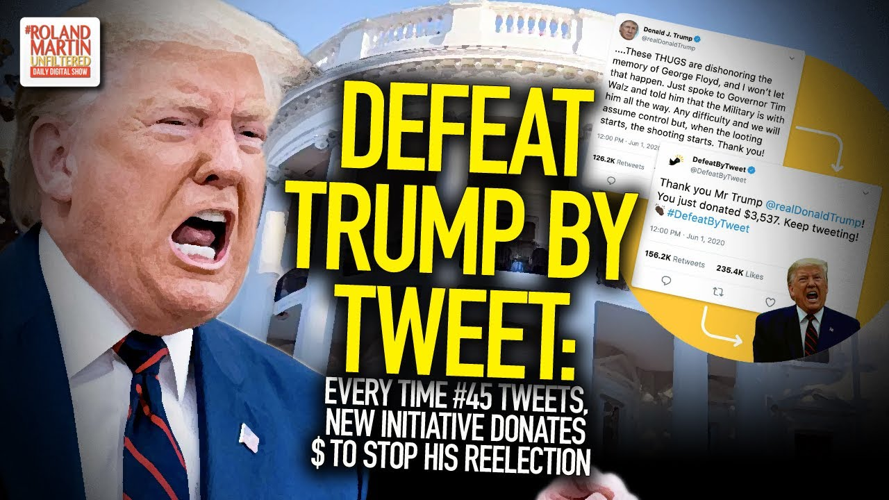 Defeat Trump By Tweet: New Tool Donates $ To Stop #45's Reelection Every Time He Tweets