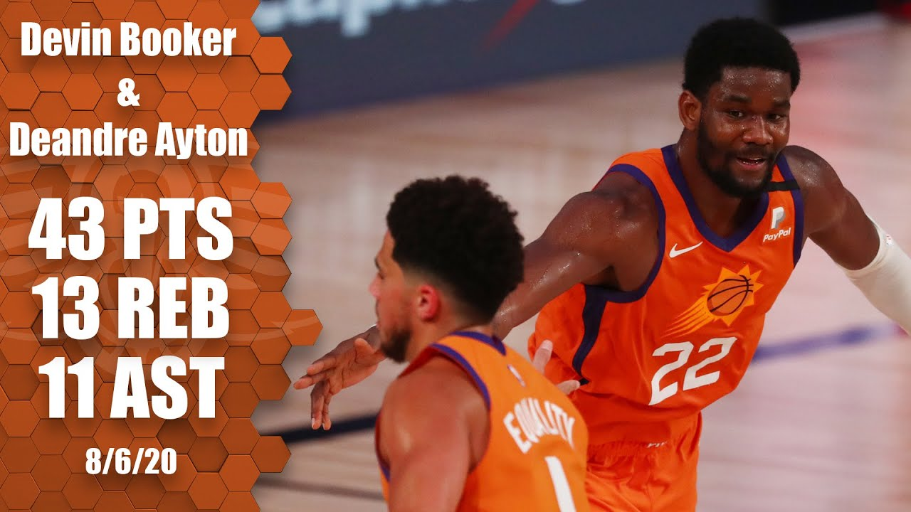 Devin Booker and Deandre Ayton's impressive highlights from Suns vs. Pacers   2019-20 NBA Highlights