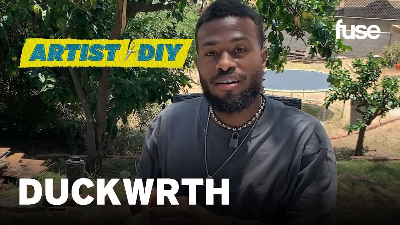 DUCKWRTH Talks Celebrating Life & Music While He Creates His Signature Wood Art | Artist DIY | Fuse