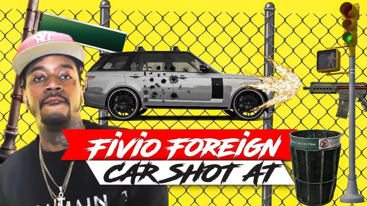 Fivio Foreign Car Got Shot Up In Atlanta