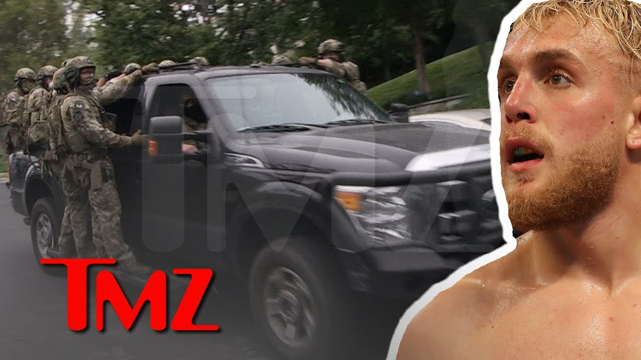 Jake Paul's Home Searched by FBI, Small Army Leaves the Area | TMZ