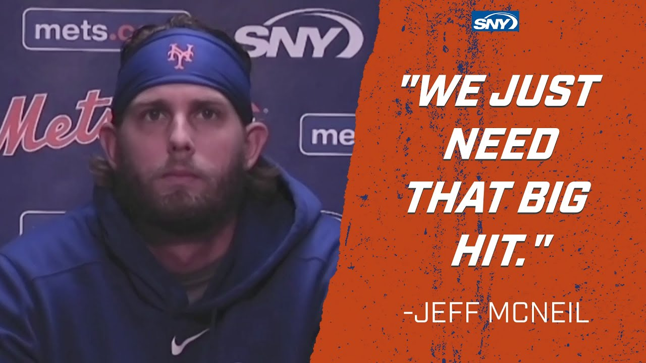 Jeff McNeil is hopeful that the Mets can turn this thing around | New York Mets | SNY