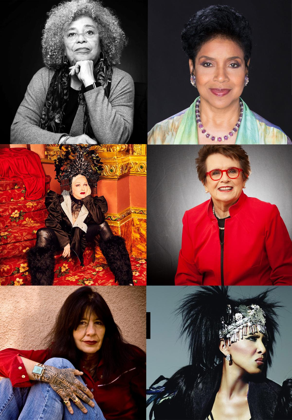 Cyndi Lauper, Phylicia Rashad, Billie Jean King, Joy Harjo Join Nona Hendryx and Angela Davis for 'Radical Healing' on August 14