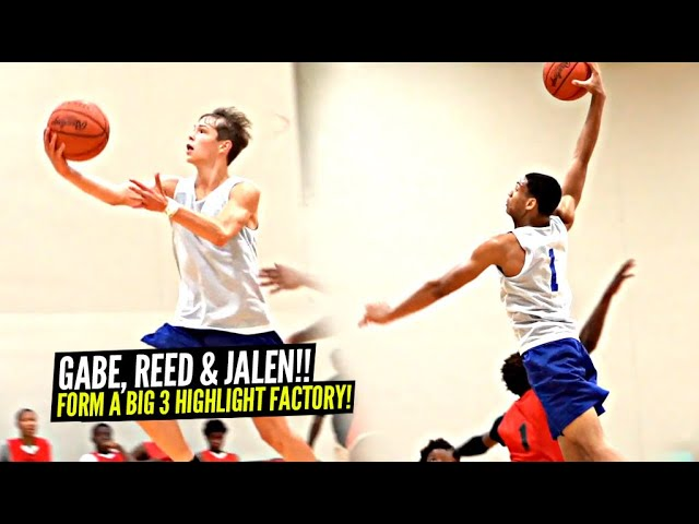 ANOTHER JALEN w/ BOUNCE!? WTF! Gabe Cupps, Jalen Hooks and Reed Sheppard Go NUTS In Wild AAU Game!