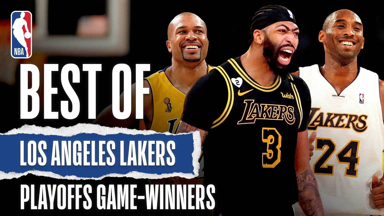 BEST Game-Winning Shots In Lakers #NBAPlayoffs HISTORY!