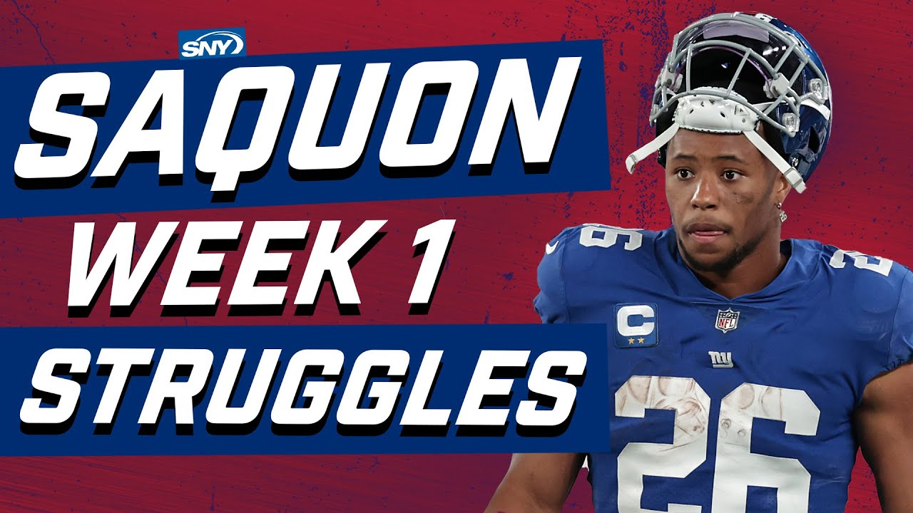 Big issue for Giants is Saquon Barkley only rushed for 6 yards | Football Night in New York | SNY