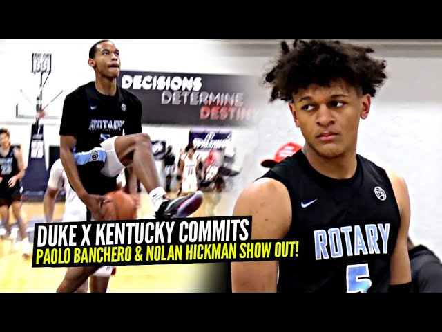 Duke Commit & Kentucky Commit TEAM UP In an INTENSE Battle! Paolo Banchero & Nolan Hickman SHOW OUT!
