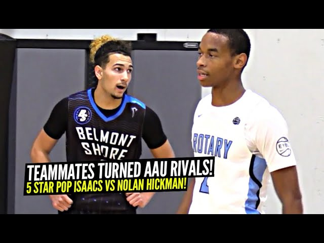 High School Teammates Turned RIVALS In AAU!! 5 Star PG Pop Isaacs vs Kentucky Bound Nolan Hickman!