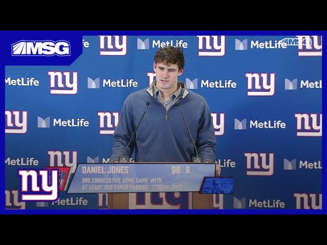 How Does Daniel Jones Think He Is Progressing in the NFL Thus Far? | New York Giants Postgame