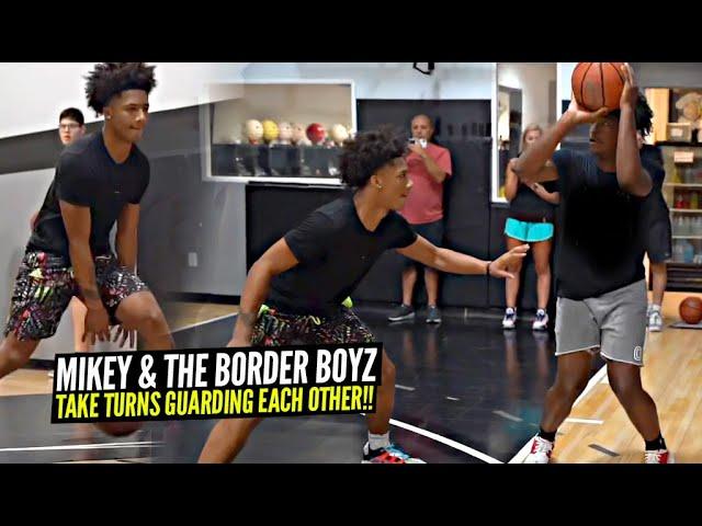 Mikey Williams & His Border Boyz Teammates Take Turns Guarding Each Other!! Intense Workout Session!