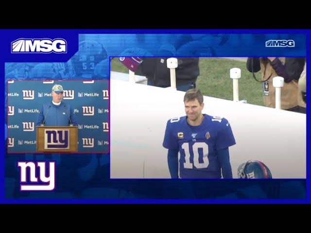 Pat Shurmur Discusses Eli Manning's Possible Final Start | New York Giants