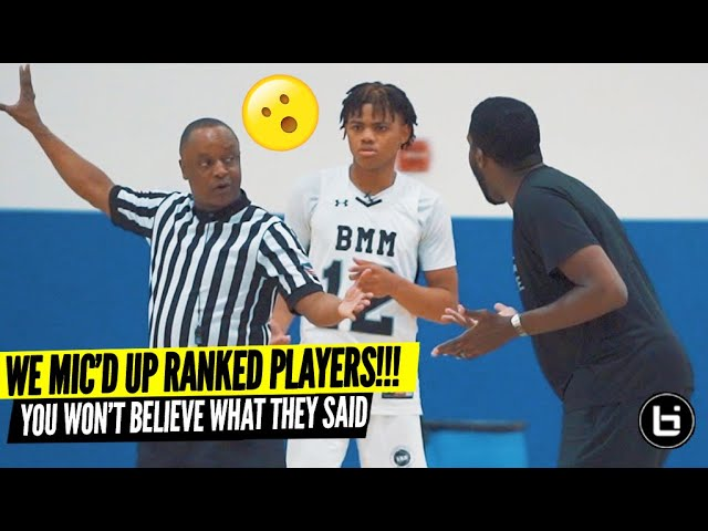 We MIC'D UP Top Ranked High School Players During AAU! You Won't Believe What They Said