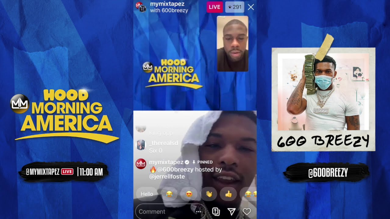 600 Breezy talks Iceman Edition 2 and his Quarantine Essentials [Hood Morning America]