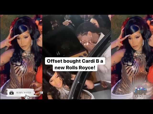 Cardi B Celebrates Her 28th Bday In Vegas with Offset Buying Her a 330K Rolls Royce
