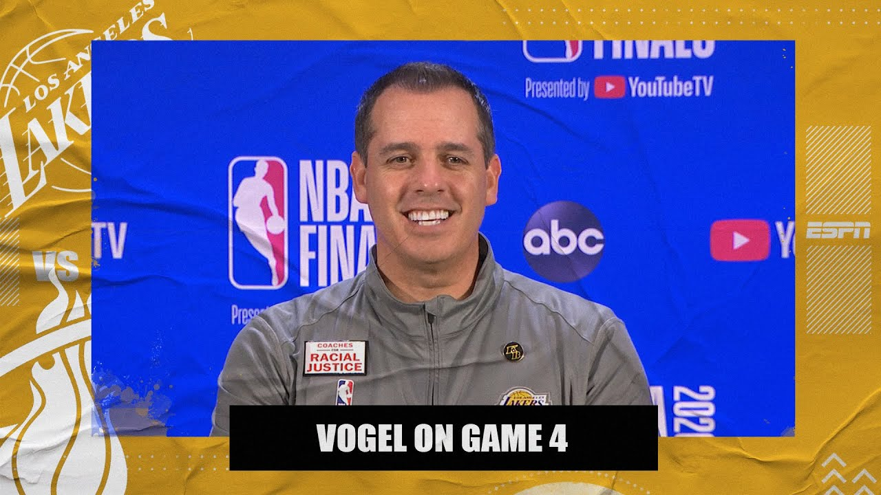 Frank Vogel on Lakers' Game 4 win and Anthony Davis taking on Jimmy Butler | 2020 NBA Finals