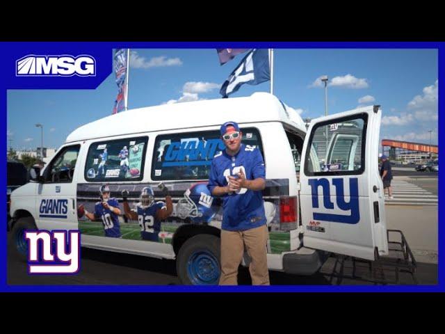 Inside New York Giants Fan Van   New York Giants