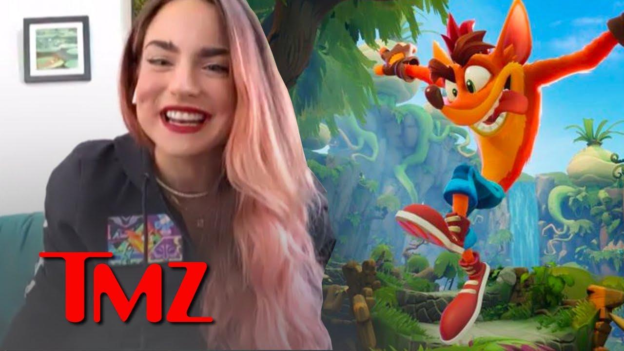 JoJo Embracing Childhood Nostalgia Through The New Crash Bandicoot Game! | TMZ