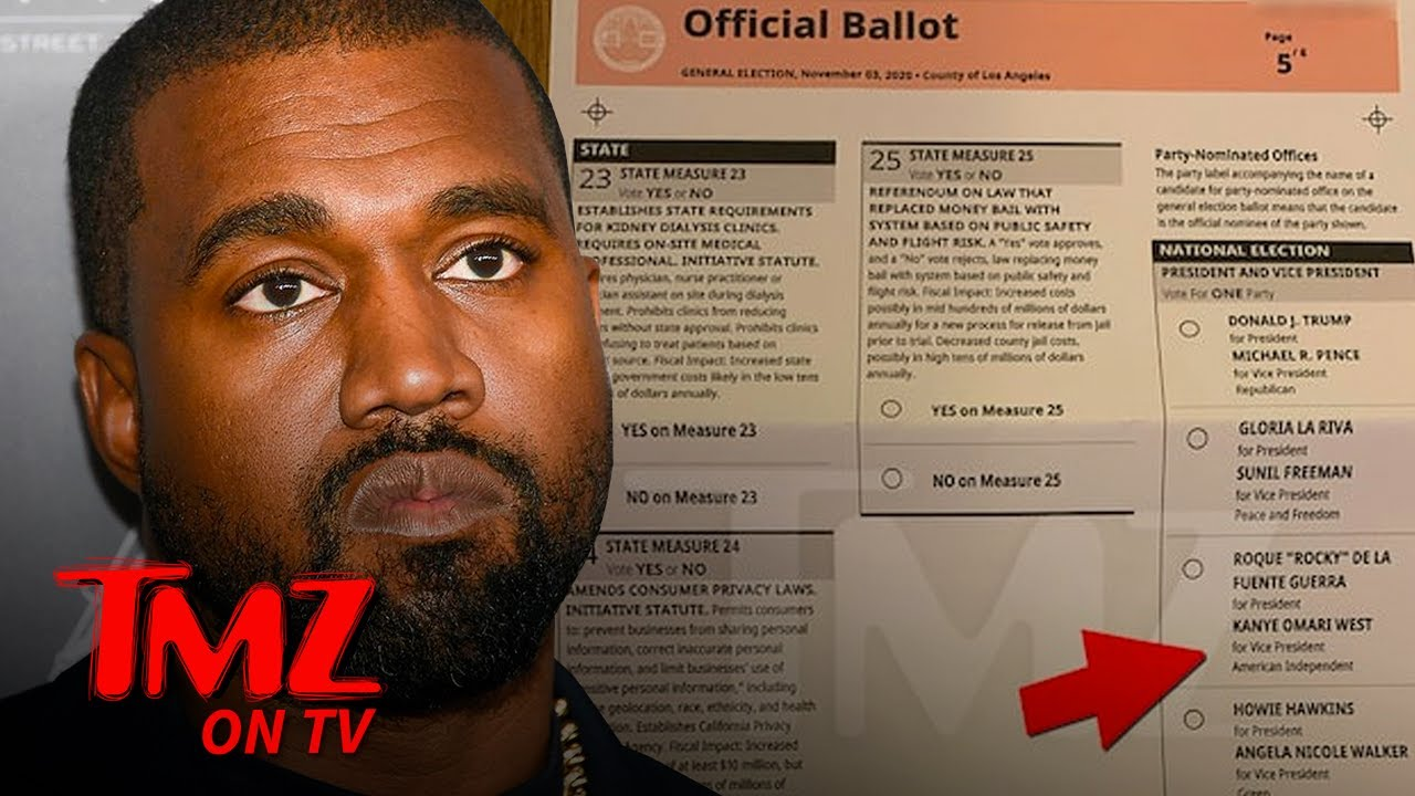 Kanye West on CA Ballot as Vice Presidential Candidate | TMZ TV