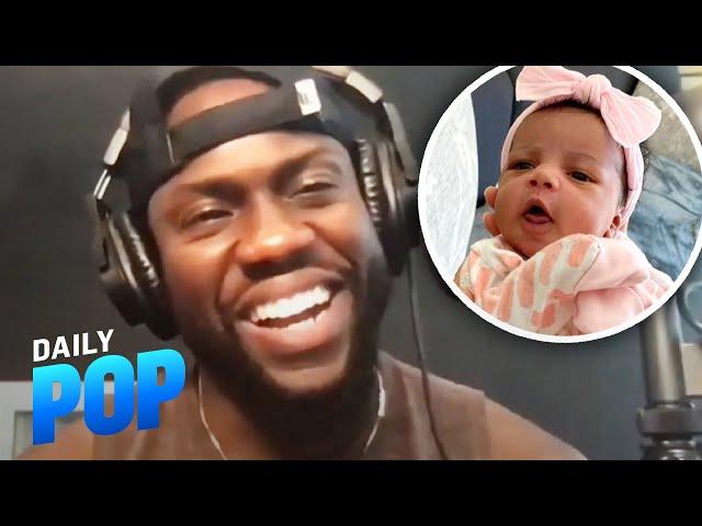 Kevin Hart Talks Newborn Daughter Kaori & Why He's Hitting Up Dwayne Johnson for Money
