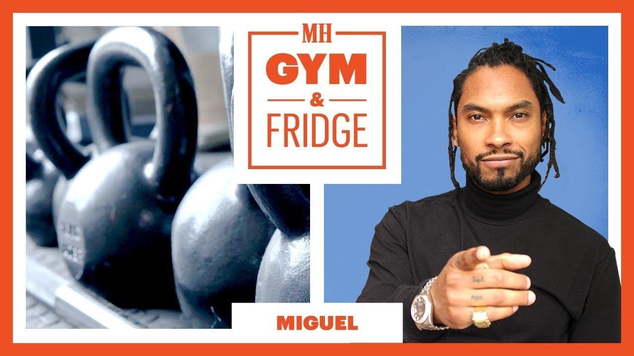 Miguel Shows His Home Gym & Keto Fridge | Gym & Fridge Tour | Men's Health