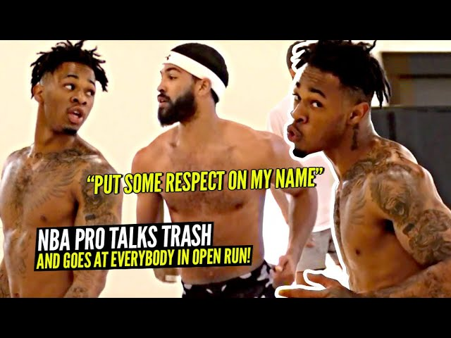 "NBA Pro GOES AT D1 College Athletes & TALKS TRASH In Open Runs! ""Put Some RESPECT ON MY NAME!"""