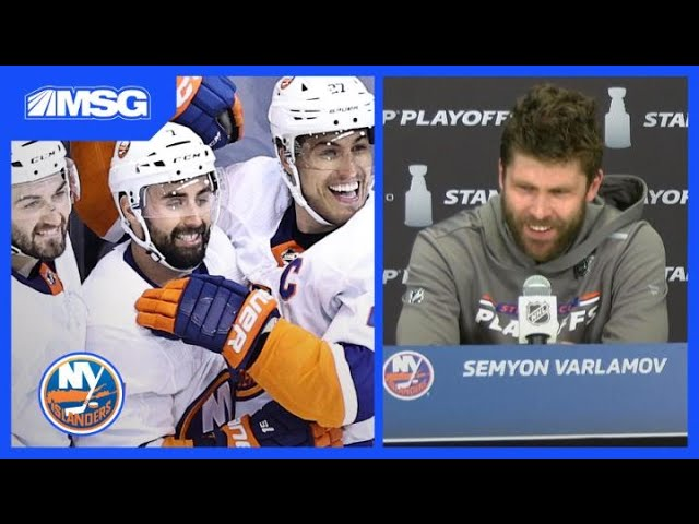 Varlamov on Wild Slide Celly & More Islanders Postgame Reaction After Game 5 OT Win