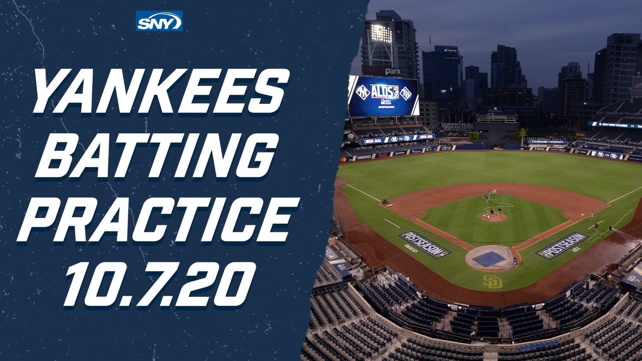 Yankees Batting Practice ahead of Game 3 of the ALDS | New York Yankees | SNY