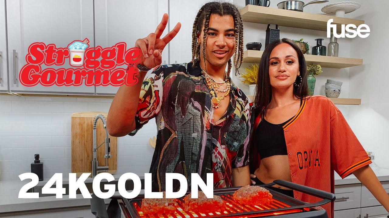 24kGoldn Upgrades Basic Ground Beef Into A $257 Meatloaf | Struggle Gourmet | Fuse