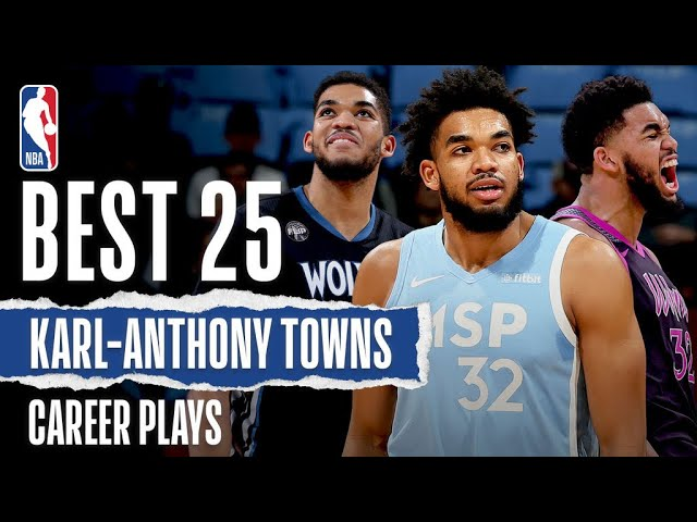 25 Best Karl-Anthony Towns Career Plays | #NBABDay 🎂