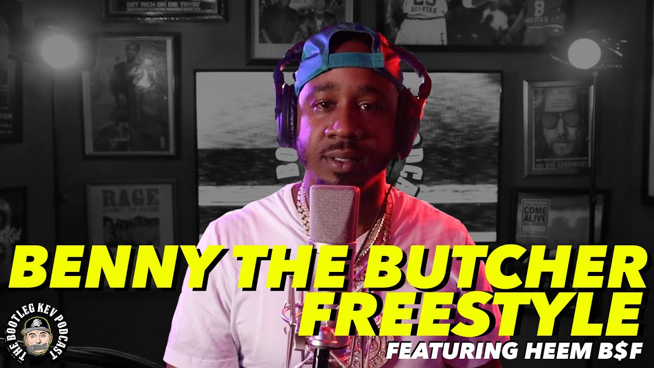 Benny The Butcher Freestyles over his own beat w/ Heem B$F (Bootleg Kev Freestyle #1)