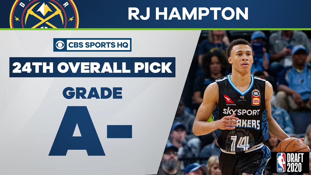 Denver Nuggets select RJ Hampton with 24th overall pick (via IND) | 2020 NBA Draft | CBS Sports HQ