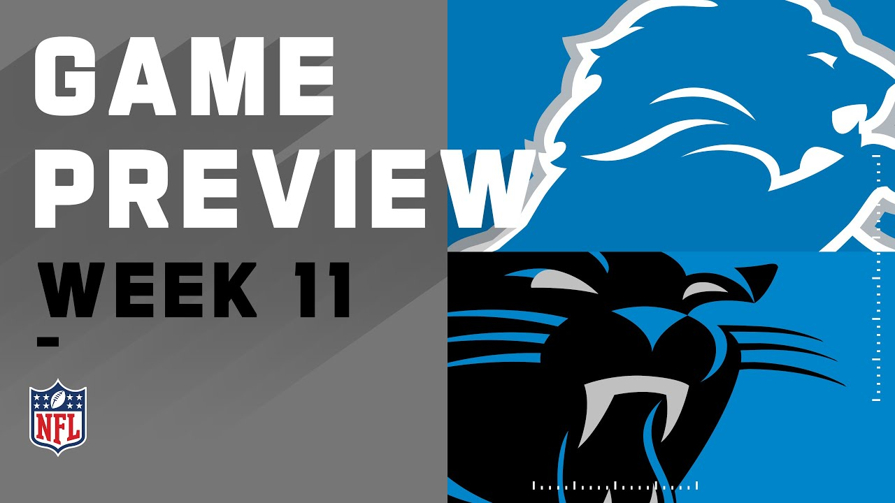 Detroit Lions vs. Carolina Panthers | NFL Week 11 Game Preview
