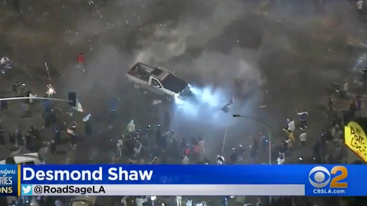 Dodgers Fan Gets Run Over By A Car While Out Celebrating World Series Win