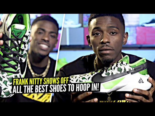 Frank Nitty Shows Off All The DOPEST Shoes To HOOP IN This Season! What's Your Squad Rolling With?