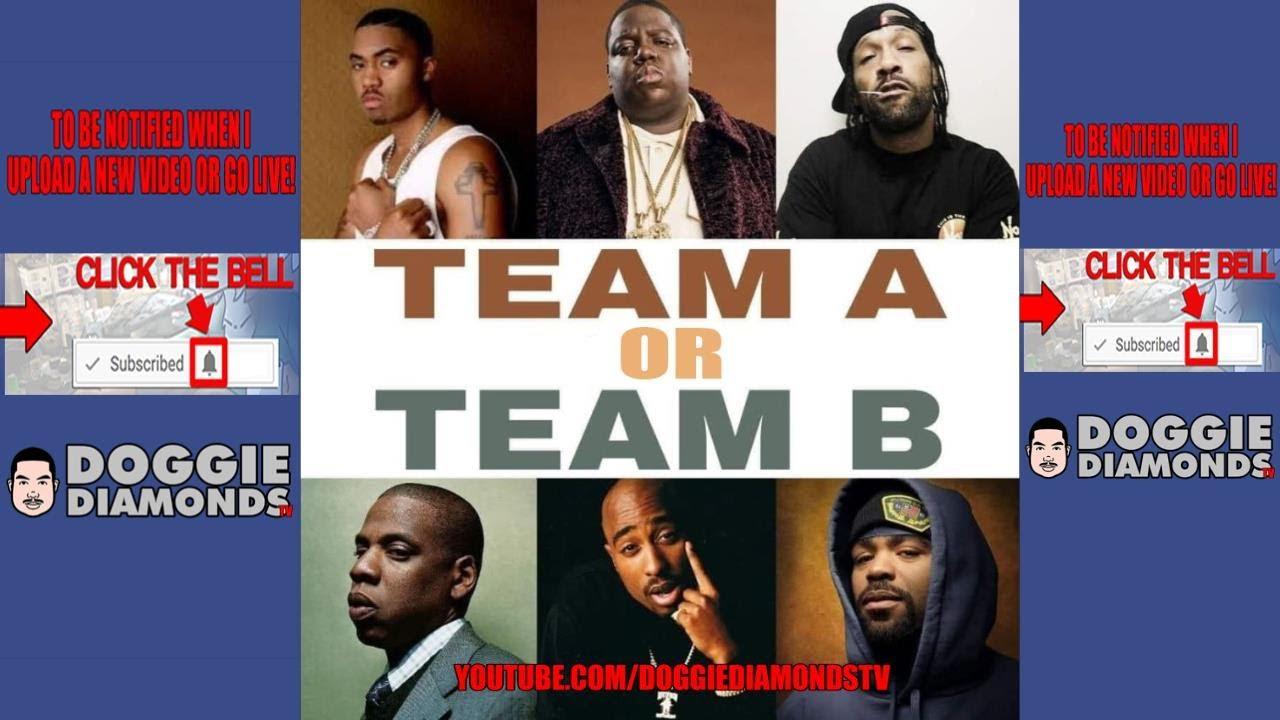 Nas, Biggie, Redman Vs, Jay Z, Tupac, Method Man (What Team Is Better?)