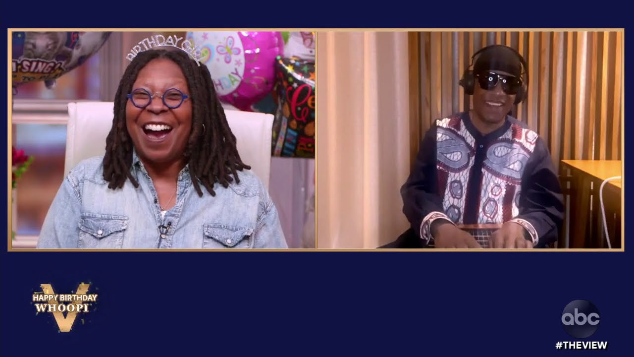 Stevie Wonder Surprises Whoopi Goldberg With the Gift of Music! | The View