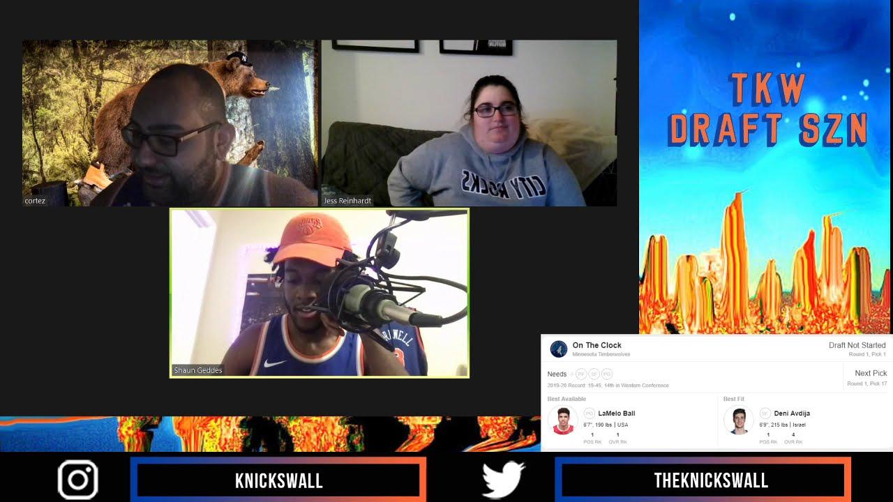 TKW Live Draft Watch Party 11.18.2020 | TKW Twitch | The Knicks Wall